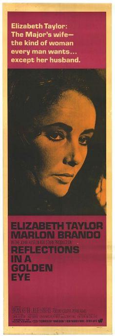 Reflections In A Golden Eye 1967 Elizabeth #Taylor Marlon #Brando