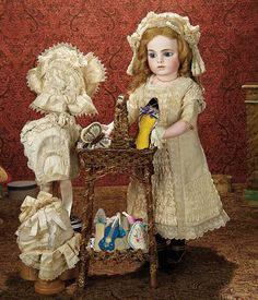 The Memory of All That - Marquis Antique Doll Auction: 110 An Outstanding French Bisque Bebe, Size 12, by Leon Casimir Bru