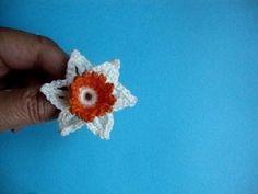 Вязаный цветок Crochet flower pattern 92 - YouTube