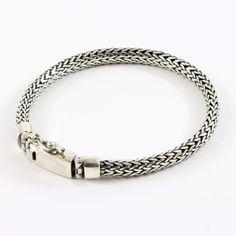 pulsera de plata de ley hombre étnica shadisilver