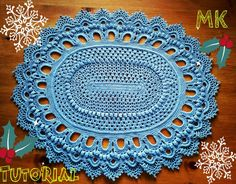 Овальный ковер крючком из шнура 6 ряд Crochet Oval Rag for beginners row 6