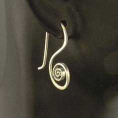 Simple Silver Earrings / Artisan Hammered Earrings / by MetalRocks, $27.00