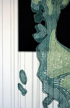 Aiden's Metamorphosis, by Pierre Fouche Art Fibres Textiles, Textile Fiber Art, Sculpture Art, Sculptures, Artistic Installation, Hanging Pictures, Bobbin Lace, Fabric Manipulation, Textile Design