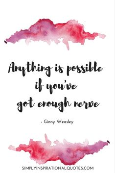 One of my all time favourite quotes! 😍 And it is so true🙌 Whether you want to… …start going to the gym🏋🏼♀️ …manage your weight better 👙 …eat healthier 🍇🍍🍓 It is possible if you've got enough nerve to try! Hp Quotes, Harry Potter Quotes, Harry Potter Love, Harry Potter World, Disney Quotes, Cute Quotes, Book Quotes, Inspirational Quotes, Qoutes