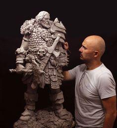 Wow This Sculpture came Out Just Fantastic. Art Sculpture, Outdoor Sculpture, Character Art, Character Design, Fantasy Miniatures, 3d Prints, Arte Popular, Clay Art, Sculpting