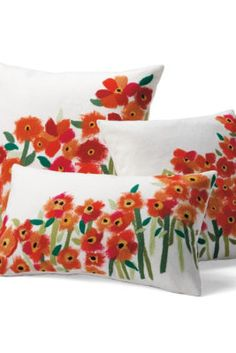 Brightly colored Poppies Pillows is a treat to look at in my living room #TreatYourself #shopkick