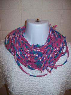 Recycled T Shirt Scarf Cowl Knotted by LonestarFashions on Etsy, $18.00