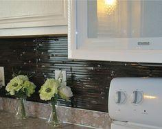 bamboo paneling as kitchen backsplash
