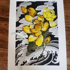 "159 Likes, 8 Comments - jack williams (@jackwilliamstattoo) on Instagram: ""Holiday painting number 1 #lotus #japanesetattooart #irezumicollective #drawing #painting #ink…"""