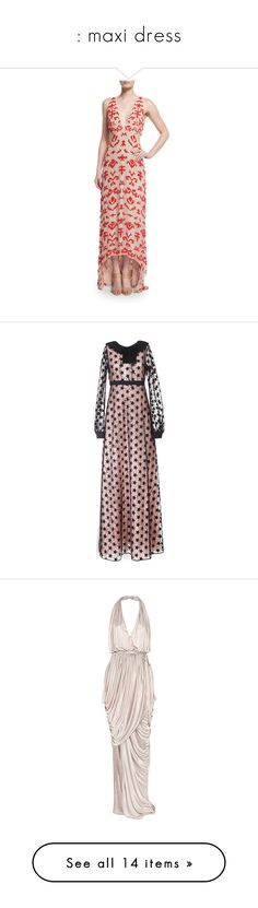 """"""": maxi dress"""" by chrismay-468 ❤ liked on Polyvore featuring dresses, gowns, nude poppy, plunging v neck dress, white high low dress, high low dresses, white ball gowns, a line dress, nero and long lace dress"""