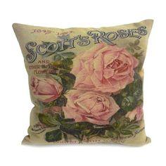 Vintage Rose Cushion #PinItToWinIt #Dunelm