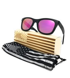 30ee256a538 Patriot Shades Polarized   Floating Bamboo Size Large Wayfarer Sunglasses