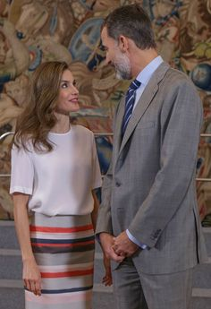 King Felipe and Queen Letizia Attend audiences at Zarzuela Palace