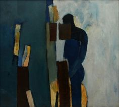 Keith Vaughan: Landscape with Figure oil on canvas
