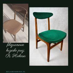 krzesło projektu R. Hałas w kolorze dębu, tkanina welur zabezpieczone olejem. Dining Chairs, Furniture, Home Decor, Decoration Home, Room Decor, Dining Chair, Home Furnishings, Home Interior Design, Dining Table Chairs