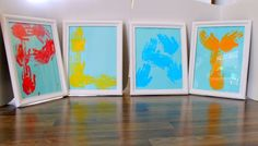 This alphabet kids handprint art is such a fun way to add a personal touch to your home decor! Great way of learning letters by spelling out their names for their bedroom. Kids Learning Activities, Creative Activities, Craft Activities, Learning Letters, Fun Crafts, Crafts For Kids, Footprint Crafts, Alphabet, Handprint Art