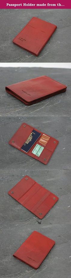 Passport Holder made from the interior of a 1986 Volvo 740 GLE. This unique Passport Holder is made from the original leather seats of a 1986 Volvo 740 GLE. Every design from our Drive Collection is a one of a kind piece transforming vintage luxury car interiors in contemporary accessory art. Features: * SECURE SNAP CLOSURE * EXTERIOR SLOT FOR BOARDING PASS * 2 SLOTS FOR CARDS * PASSPORT COMPARTMENT * EXTRA DOCUMENT POCKET BEHIND CARDS * 10 X 15 CM (4 X 5 3/4 INCH).