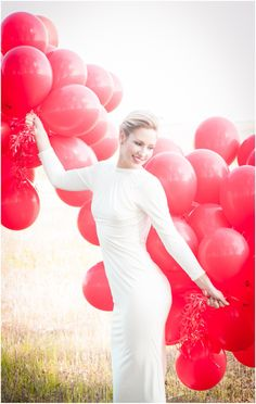What could be more fun on a Friday afternoon than a shoot inspired by the music hit 99 Red Balloons? Balloon House, Red Balloon, Balloons Photography, Creative Photography, Ballon Decorations, Polka Dot Wedding, Wedding Balloons, Hair And Makeup Artist, Gorgeous Wedding Dress