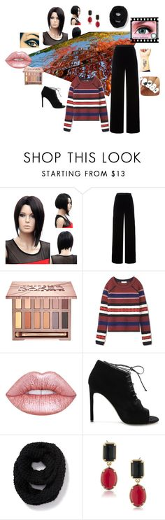 """""""Mood Sombre"""" by contactlensvision ❤ liked on Polyvore featuring T By Alexander Wang, Urban Decay, Tory Burch, Lime Crime, Yves Saint Laurent, Old Navy and 1st & Gorgeous by Carolee"""