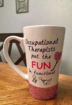 Occupational therapist mug, OT mug, occupational therapy, OT teacher, gift for teacher, therapy mug