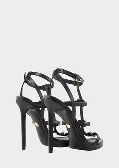 Signature Medusa Strap Sandal - Black Versace Essentials For Her