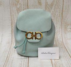 Vintage Salvatore Ferragamo preloved mint color Leather by eNdApPi, $168.00