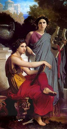 Art and Literature by William-Adolphe Bouguereau, 1867