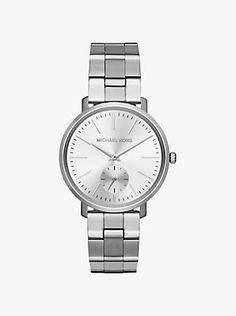 Jaryn silver tone watch - simple , low profile, elegant.