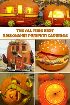 Halloween Pumpkins - These carved pumpkins are the perfect Halloween craft. If you like carving pumpkins for fall, you're going to love these creative pumpkin ideas! Pumpkin Carving Contest, Amazing Pumpkin Carving, Carving Pumpkins, Halloween Carved Pumpkins, Pumkin Carving Easy, Halloween Crafts For Kids, Halloween Diy, Halloween Decorations, Purple Halloween