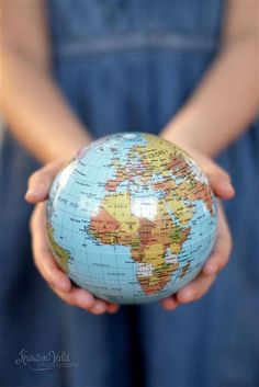 460 best globes images on pinterest globes map globe and maps shes got the whole world in her hands via flickr gumiabroncs
