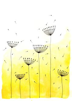 Original Watercolor Painting - Abstract Dandelions 2 - up to Art Print, Wall Decor, Illustration - Tvorivé nápady Painting easy Painting ideas Painting water Painting tutorials Painting landscape Painting abstract Watercolor Painting Watercolor Paintings Abstract, Watercolor And Ink, Painting & Drawing, Original Paintings, Watercolor Flowers, Abstract Art, Indian Art Paintings, Oil Paintings, Doodle Art