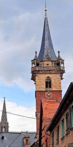 Obernai im Elsass - Kappelturm Rückseite