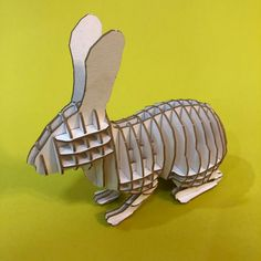 10$ Rabbit 3D Puzzle with assembly guide by Unnote Cardboard 3d Puzzles, Connection, Rabbit, Etsy Seller, Creative, Rabbits, Bunny, Bunnies