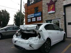 autobody vancouver #honda, #civic #rearender Vancouver, Collision Repair, Honda Civic, Body, Glass, Car, Automobile, Drinkware, Vehicles