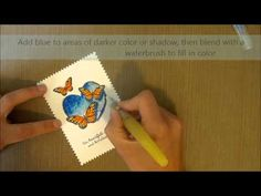 Houses Built of Cards – Zig Brush Pen Coloring – Unity Stamp Co | Unity Stamp Co