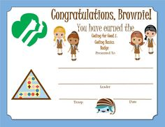 Brownie My Promise, My Faith Award - Year 1 Certificate Girl Scout Brownie Badges, Brownie Girl Scouts, Girl Scout Daisy Activities, Girl Scout Crafts, Girl Scout Leader, Girl Scout Troop, My Promise My Faith, Brownies Girl Guides, Girl Scout Promise