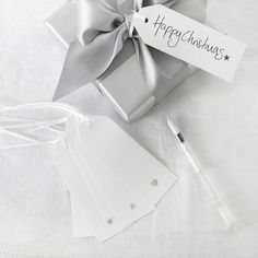 Gift Tags - Set of 6 from The White Company Elegant Christmas, White Christmas, Christmas Time, Christmas Crafts, Christmas Decorations, Xmas, Christmas Ideas, The White Company, Christmas Wrapping
