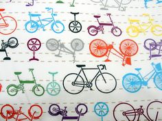 Conexão Décor www.conexaodecor.com Boke na decoração, no blog.  Tecido Estampa Bicicletas no site Elo 7 ,Blog Conexão Décor