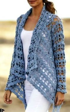 Fabulous Crochet a Little Black Crochet Dress Ideas. Georgeous Crochet a Little Black Crochet Dress Ideas. Gilet Crochet, Crochet Coat, Crochet Jacket, Crochet Cardigan, Crochet Shawl, Diy Crochet, Crochet Clothes, Irish Crochet, Crochet Vests