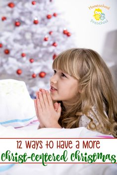 Whether Santa is a part of your holiday plans, it's important to help our little ones learn the true meaning of Christmas. Try one of these four ideas for having a Christ-centered Christmas.   homeschoolpreschool.net