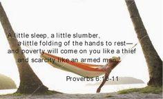 Proverbs 6:10-11