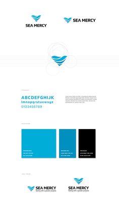 Nautical blue wave heart logo #logo #logoinspirations #branding #identity #styleguide #design