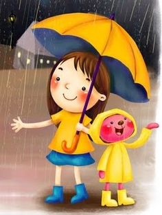 Clapcart Cartoon Design Printed Design Back Cover for Xiaomi Redmi Note -Multicolor Wallpaper Animes, Cartoon Wallpaper, Rain Wallpapers, Cute Wallpapers, Rain Gif, I Love Rain, Whatsapp Wallpaper, Umbrella Art, I Love Winter