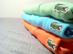 Lacoste golf tee's. A staple in any closet. If you can only go with one... make sure it's white.