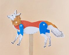 DIY Paper Puppet Rabbit by furzechan on Etsy
