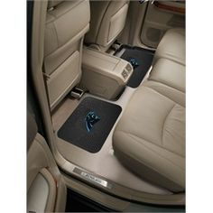 Carolina Panthers Rear Floor Mats Rubber Mat Set