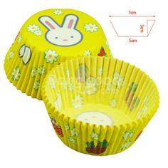 Wholesale White Rabbit's Chocolate Cake Cupcake Paper Cups In Bluk
