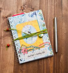 Filled with funky pages, and surf style images, this is a cool journal to write your reflections on life! From SurfGirl Beach Boutique