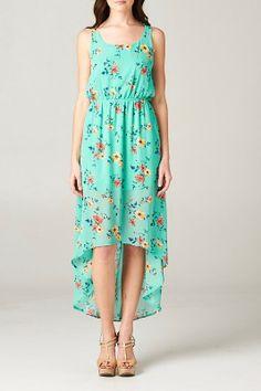 //SWEET RAIN// Mint Floral Dress