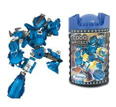 0698.7 - Blocos de Encaixe Robô Guerreiro BLUE ARMOR | Contém 65 peças. | Faixa Etária: +6 anos | Medidas: 10,5 x 9 x 20 cm | Jogos e Brinquedos | Xalingo Brinquedos | Crianças